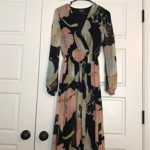 Lulus floral floor maxi dress